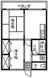 エトワール大塚[102号室]の間取り