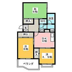 ティーハイム小笠原[2階]の間取り