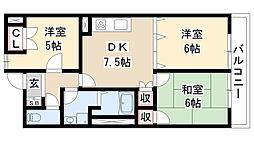 愛知県名古屋市瑞穂区彌富町字桜ケ岡の賃貸マンションの間取り