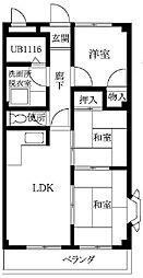 兵庫県姫路市飾磨区構4丁目の賃貸アパートの間取り