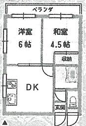 LOCO武庫之荘[301号室]の間取り