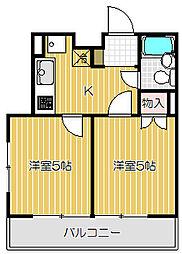 東京都品川区西中延1丁目の賃貸マンションの間取り