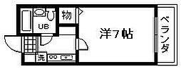 ロジュマン海塚1[401号室]の間取り