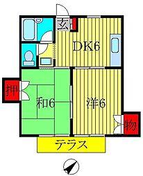 メゾンヤマリII[1階]の間取り