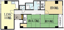 京福修学院マンション[4階]の間取り