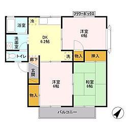 メゾン森III[1階]の間取り