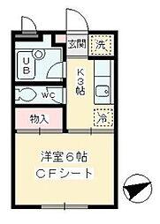 東京都世田谷区南烏山1丁目の賃貸アパートの間取り