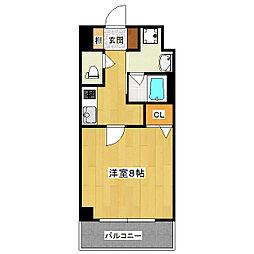 アスヴェル京都堀川高辻[305号室]の間取り