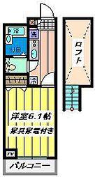 埼玉県川口市八幡木3の賃貸マンションの間取り