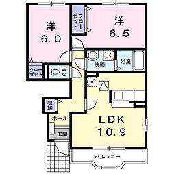 リッチハウス[102号室]の間取り