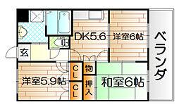 プロニティ行橋B[1階]の間取り