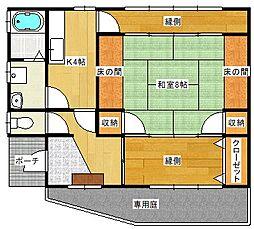 [一戸建] 広島県広島市安佐南区大町西2丁目 の賃貸【/】の間取り