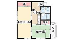 愛知県名古屋市天白区一つ山2丁目の賃貸マンションの間取り