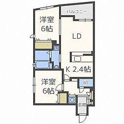北海道札幌市中央区南四条西14丁目の賃貸マンションの間取り