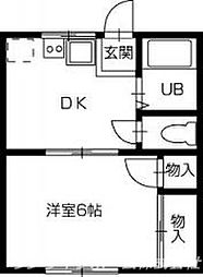 辻ハイツ[2階]の間取り