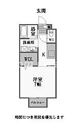 徳島県徳島市北常三島町3丁目の賃貸アパートの間取り