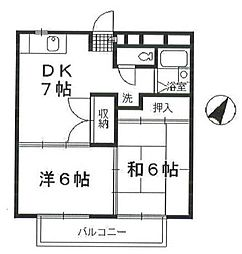 シャイムA1[202号室]の間取り