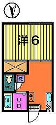 カトレアハイツ[1−F号室]の間取り