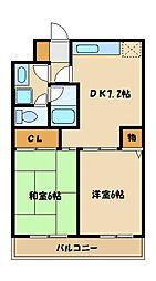 レジデンスインZAMA[2階]の間取り