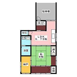 ハイランドマンション[1階]の間取り