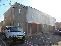 北海道千歳市長都駅前5丁目の賃貸アパートの外観