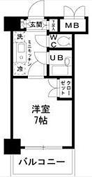 東京都府中市片町1の賃貸マンションの間取り