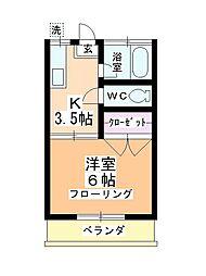 第二田辺コーポ[2階]の間取り
