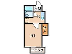 グリーンフル向[2階]の間取り