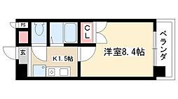 愛知県名古屋市昭和区広瀬町3丁目の賃貸マンションの間取り