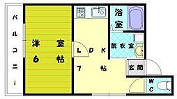 福工大前駅ビル[3階]の間取り