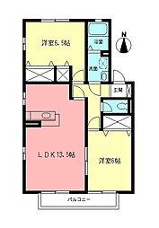 ロイヤルタウンC[2階]の間取り