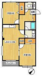 武藤第1マンション[2階]の間取り
