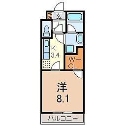 静岡県裾野市佐野の賃貸マンションの間取り