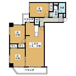 KDX泉レジデンス[7階]の間取り