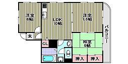 マンションナシマ[502号室]の間取り