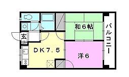 第82杉フラット[305 号室号室]の間取り