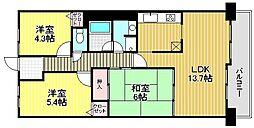 浅香山グリーンマンション[2階]の間取り