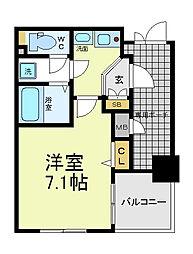 エステムプラザ大阪セントラル[2階]の間取り