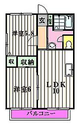 サントピアK[2階]の間取り