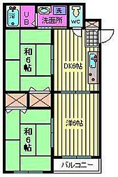 チェリーコーポ[4階]の間取り