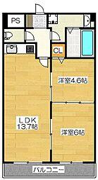 カワイアーバンビル[5階]の間取り