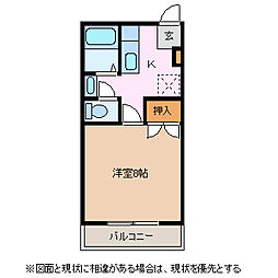 長野県松本市平田東3丁目の賃貸アパートの間取り