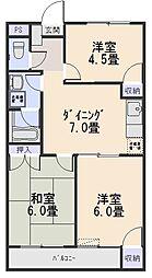 コーポ・タカ[206号室号室]の間取り