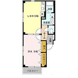 片岡マンション5[1階]の間取り