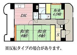 雇用促進住宅 桜台タワー[2-304号室]の間取り