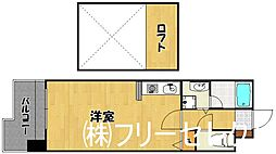 ウエストサイド箱崎[4階]の間取り