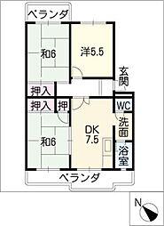 ハイツYAMANI[1階]の間取り