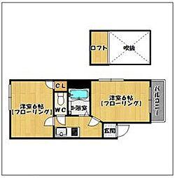 福岡県福岡市早良区昭代2丁目の賃貸マンションの間取り