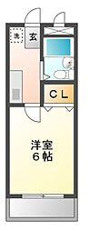 愛知県長久手市桜作の賃貸マンションの間取り