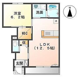 ロングアイランドヒルズマンションII[1階]の間取り